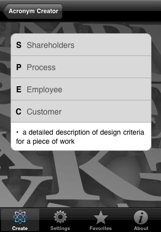 Screenshot of Acronym Creator