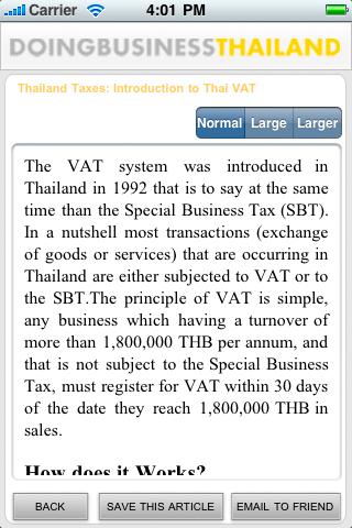 Screenshot of Doing Business Thailand