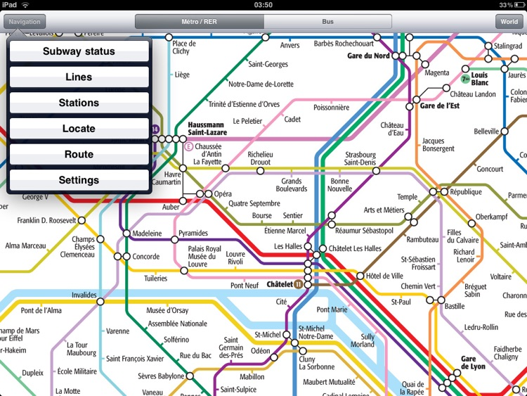 Paris Metro for iPad screenshot-0