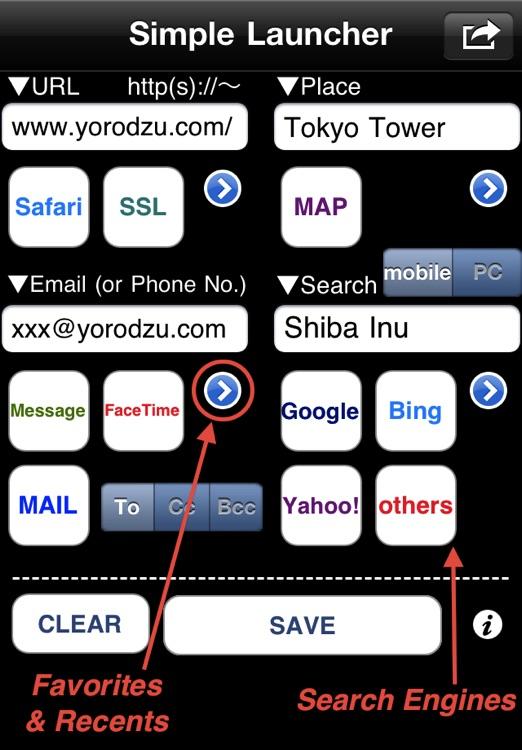 Simple Launcher (launch Safari,Map,FaceTime,etc.)