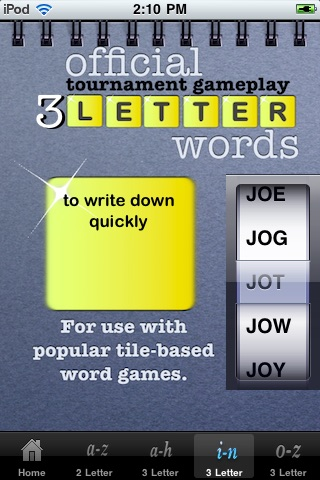 3 Letter Word Bible screenshot-3
