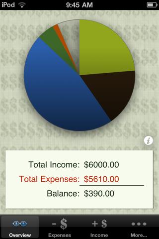 Budgeteer screenshot 1