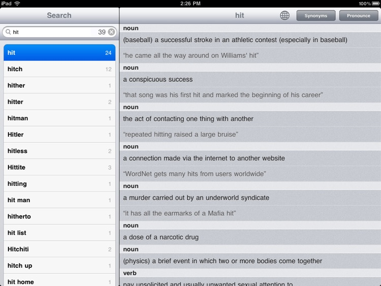 Dictionary! for iPad