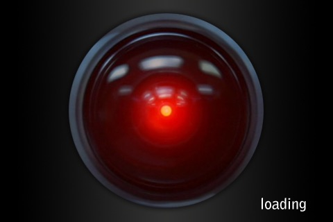 moving pictures iphone hal 9000 on the app 2001