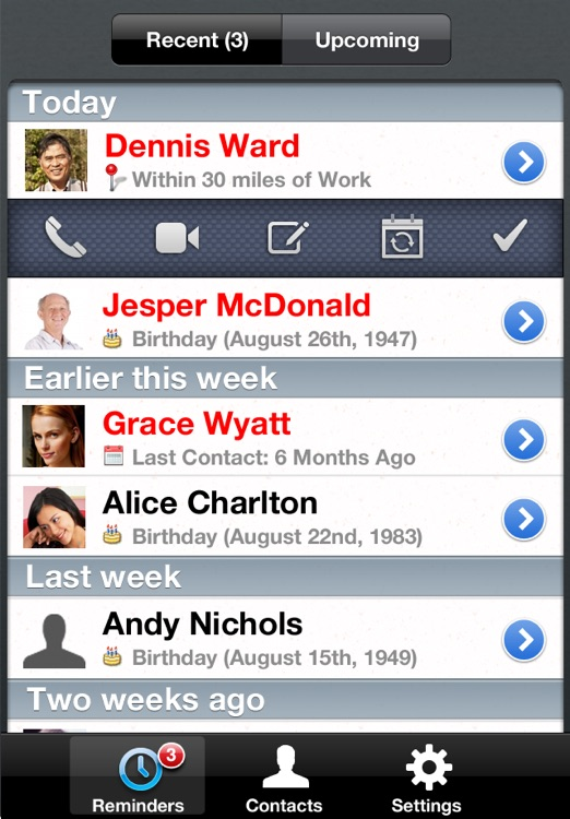 iKeepInTouch - Automated and Location-based Reminders