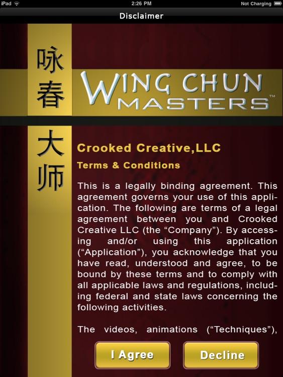 Wing Chun Masters - iPad Version