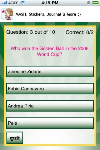 World Soccer Quizzle™ - Sports Trivia screenshot-2