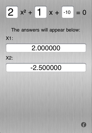 Quadratic Equations Solver