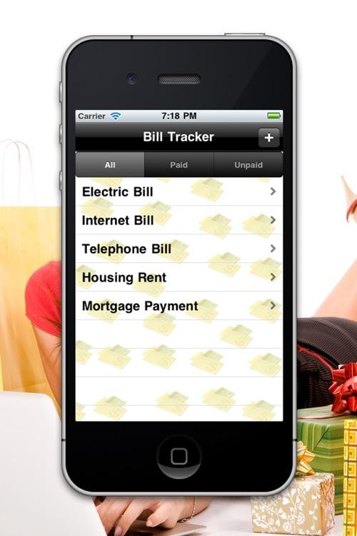 Bill Tracker HD Lite screenshot-3