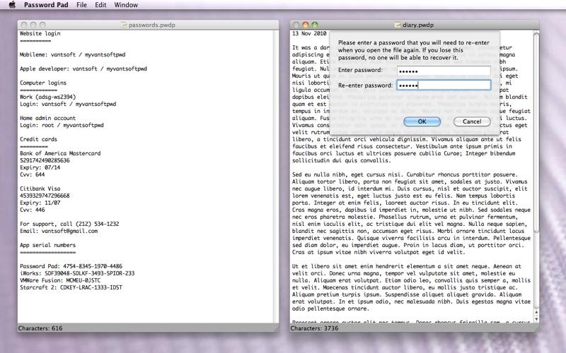 Password Pad Lite Screenshot