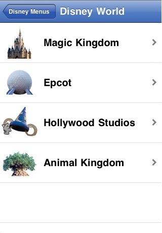 Disney Parks & Resorts Menus