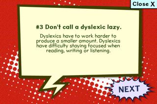 What is Dyslexia? screenshot two