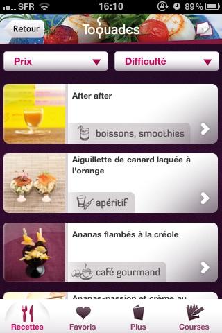 Toquades -  Plus de 250 recettes pour les toqués de cuisine screenshot-4