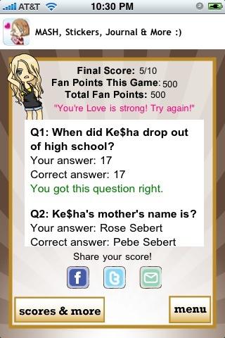 Ke$ha Quizzle™