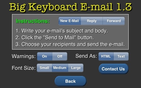 Big Keyboard Email
