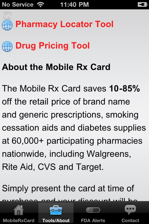 Mobile Rx Card - Prescription Discounts