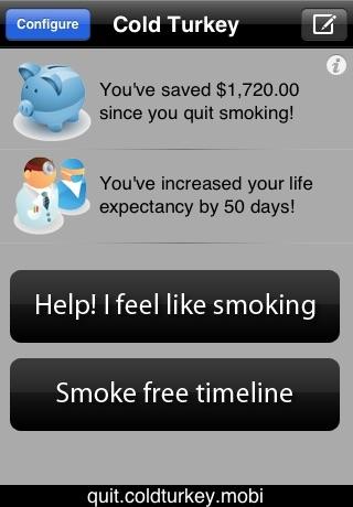 Quit Smoking - Cold Turkey (Lite Version) screenshot 1