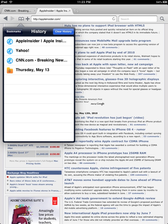 Mercury (Tabbed Web Browser)