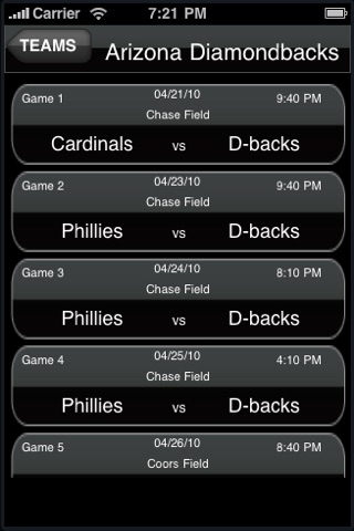 Baseball League: Live Scores and Schedule screenshot-4