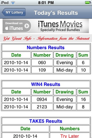 New York Lottery Lite Results On The App Store