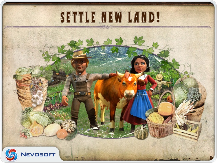 Pioneer Lands HD: western settlers strategy screenshot-3