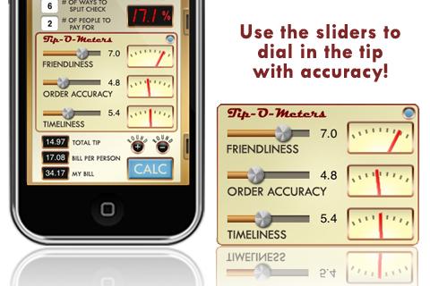 Screenshot of Tip-O-Meter - The Scientific Tip Calculator