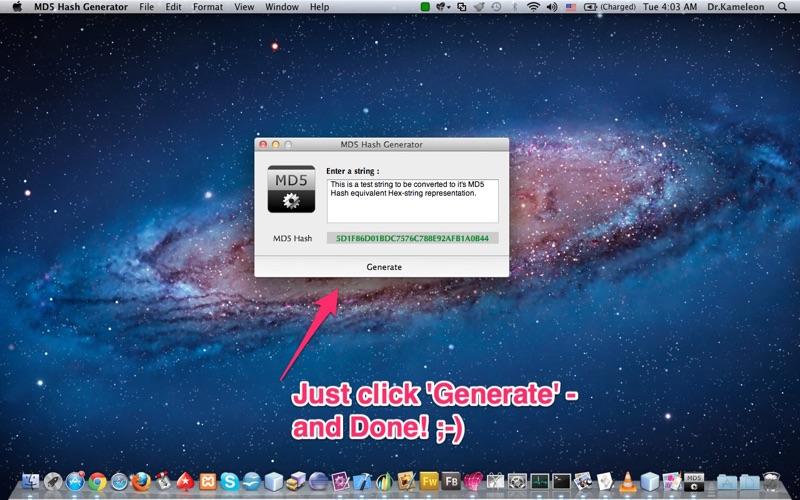 MD5 Hash Generator скриншот программы 1