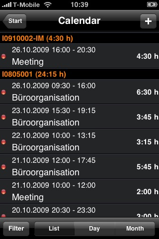 Reporta Time Tracking Lite screenshot-2