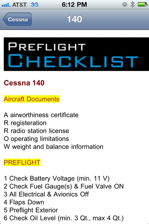 Cessna Checklist screenshot-2