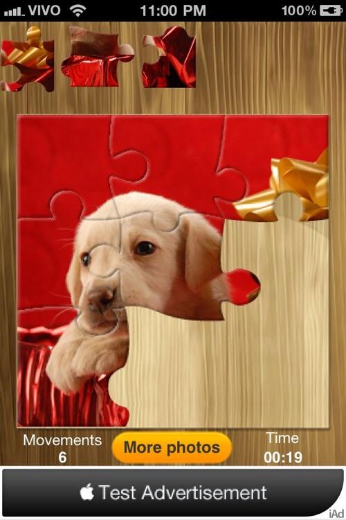 Bright puzzles: Puppies Lite