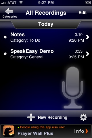 SpeakEasy Voice Recorder Lite screenshot-3