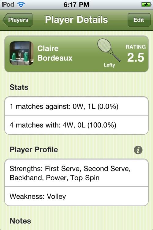 Tennis Match Point - Score Manager, Journal and Statistics screenshot-3