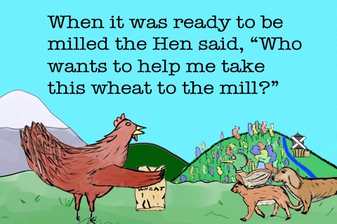 The Little Red Hen - A Children's Book