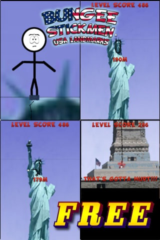 Bungee Stickmen - USA Landmarks {FREE} screenshot-0