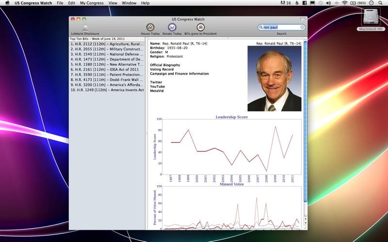 US Congress Watch Screenshot