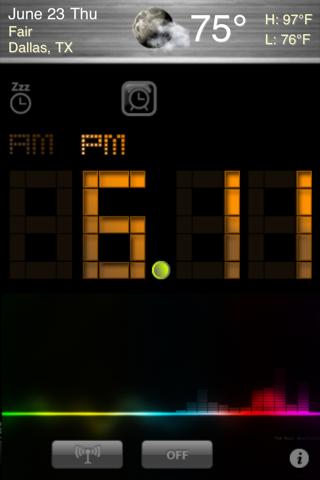 Alarm Clock + Radio screenshot one