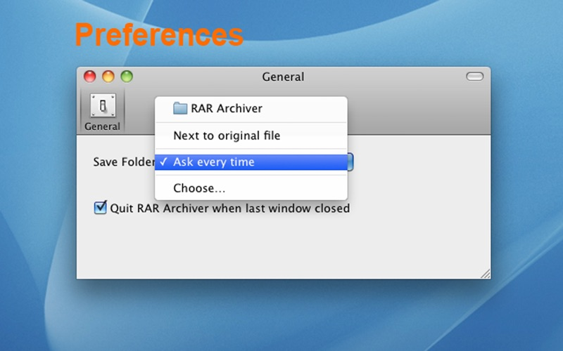 RAR Archiver Screenshot