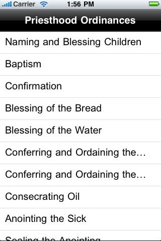 LDS Priesthood Ordinances