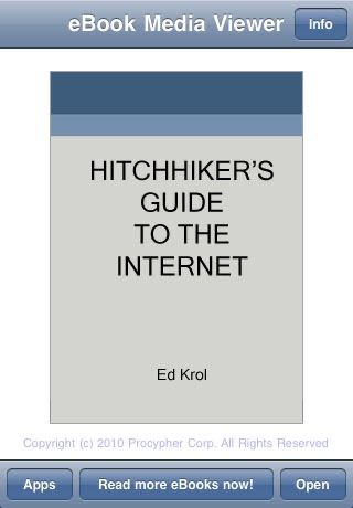 eBook: Hitchhiker's Guide to the Internet