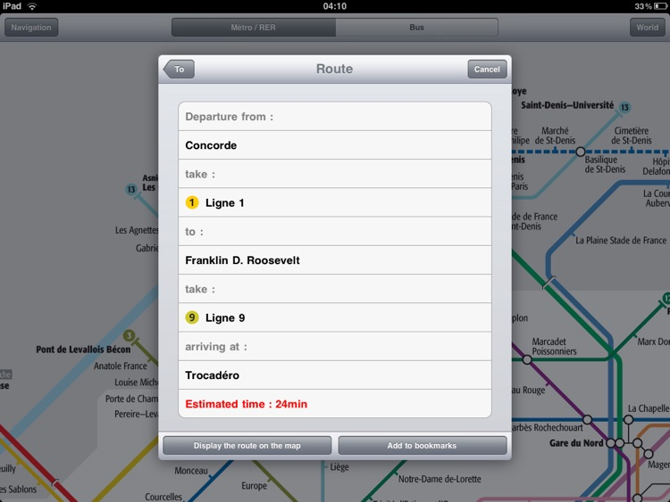 Paris Metro for iPad screenshot-3