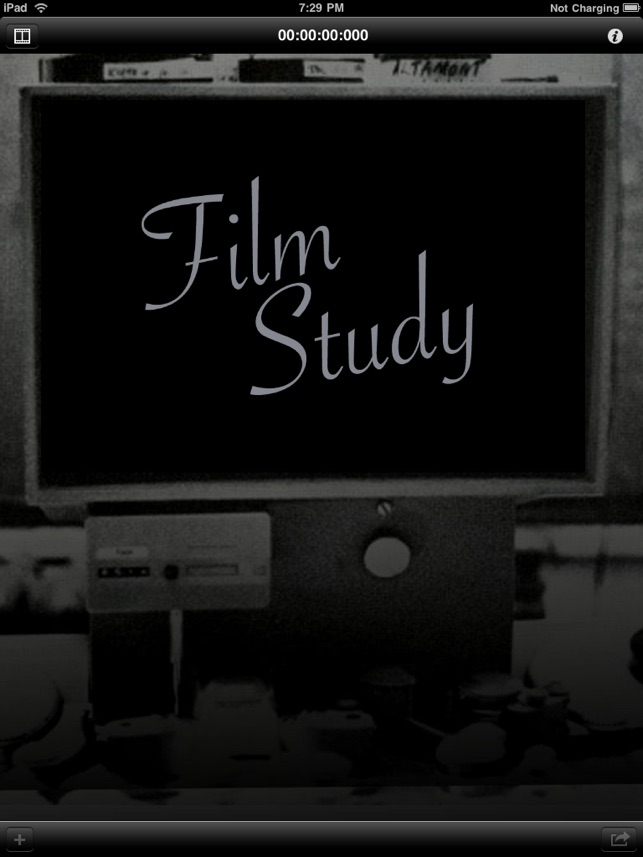 A graphic that says film study