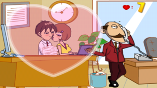 Office Kissing screenshot one