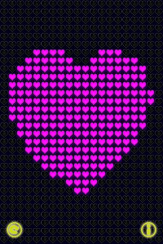 Glow Neon Heart Lights Lite Скриншоты4