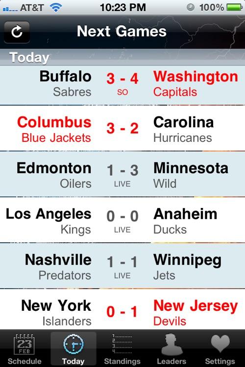 NHL Schedule 2009/10