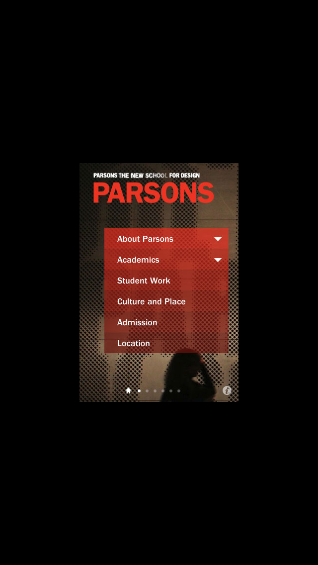 Parsons The New School for Design screenshot one