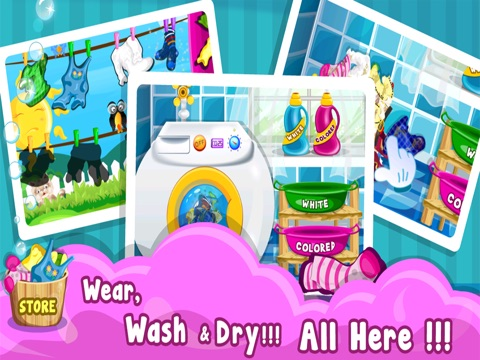 Baby Cloth Wash & Dressup - Girls & Kids Fun Games-ipad-1
