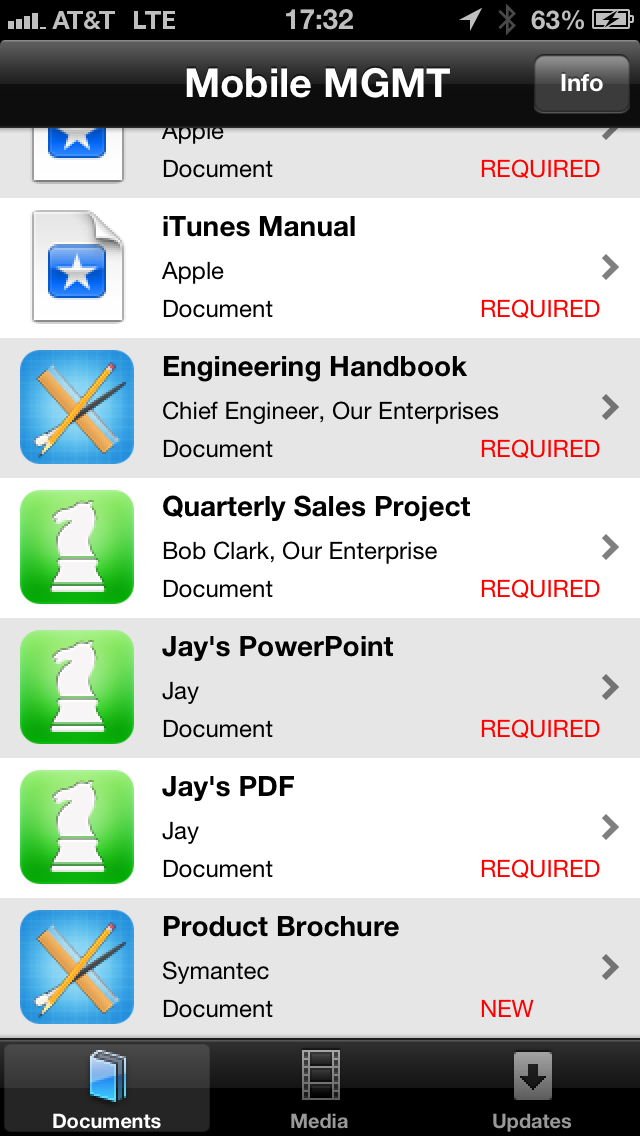 Symantec Mobile Management Agent ScreenShot1