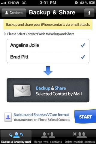 Contacts Backup Management - Contact Manager Screenshot 3