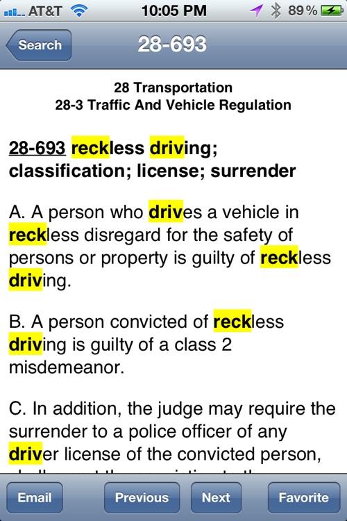 Arizona Statutes (2012 edition) aka ARS12 screenshot-3