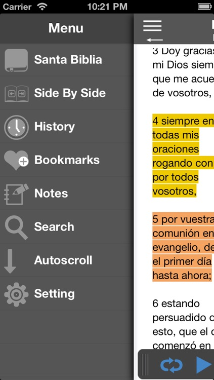 Santa Biblia Audio screenshot-1
